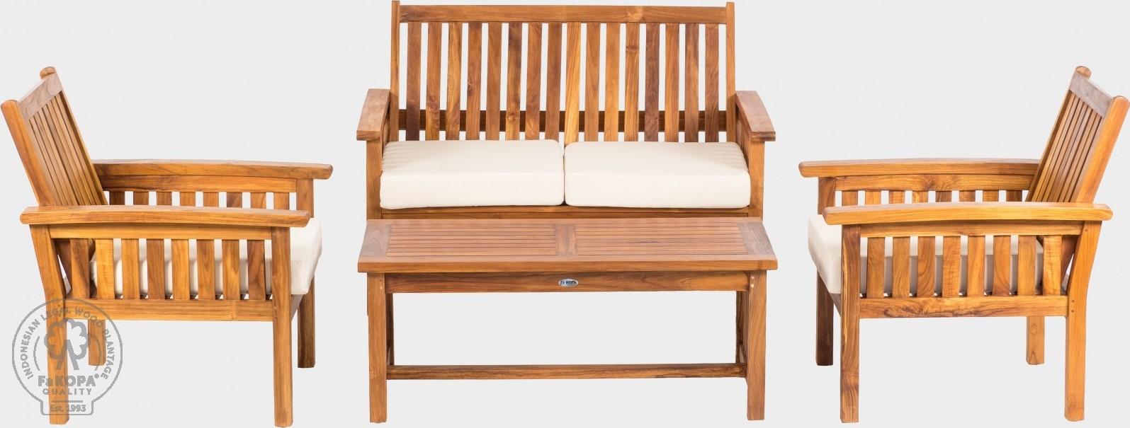 FaKOPA Dřevěný konferenční stolek na venkovní použití Rosa