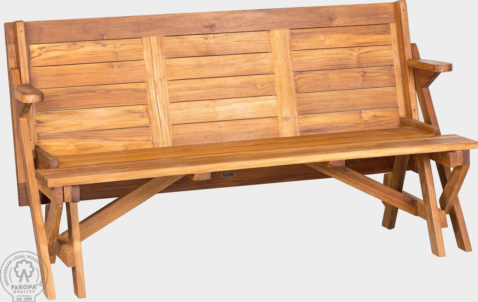 FaKOPA Venkovní rozkládací lavička Uma