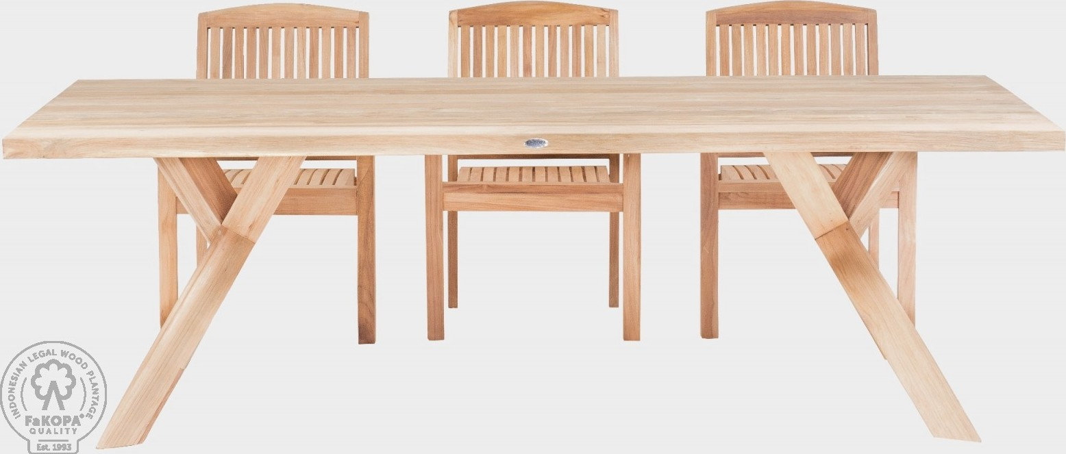 FaKOPA Venkovní stůl z použitého recyklovaného dřeva Venus