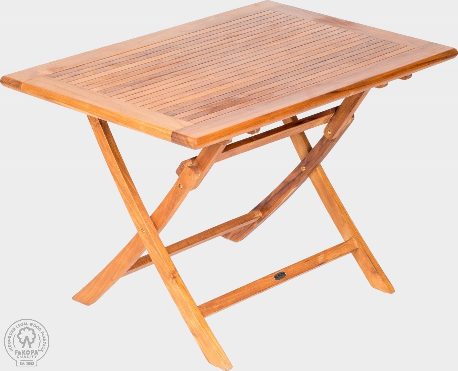 FaKOPA Skládací dřevěný stůl z teaku Chelsea