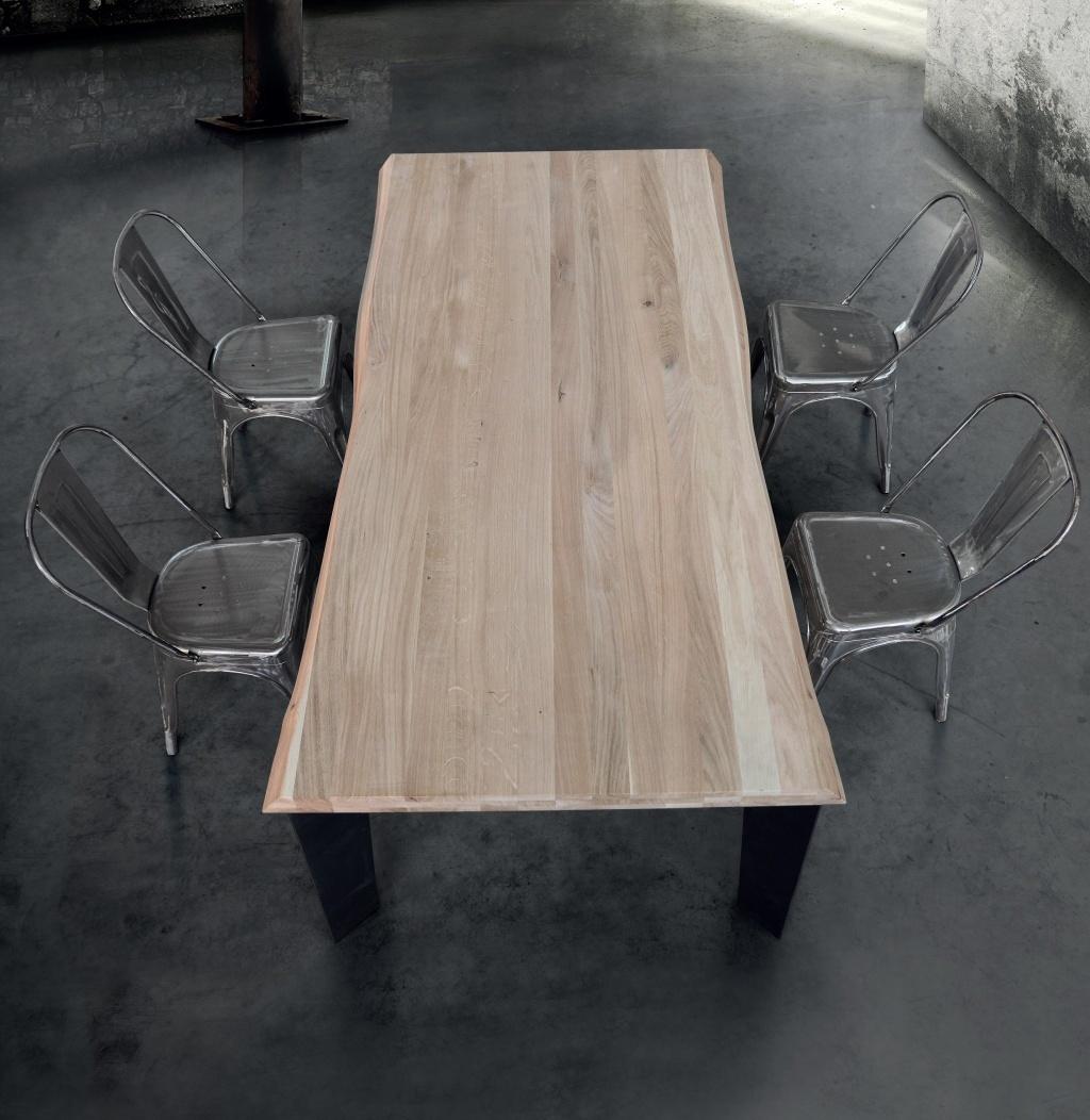Masivní stůl kovové nohy 180x90x6