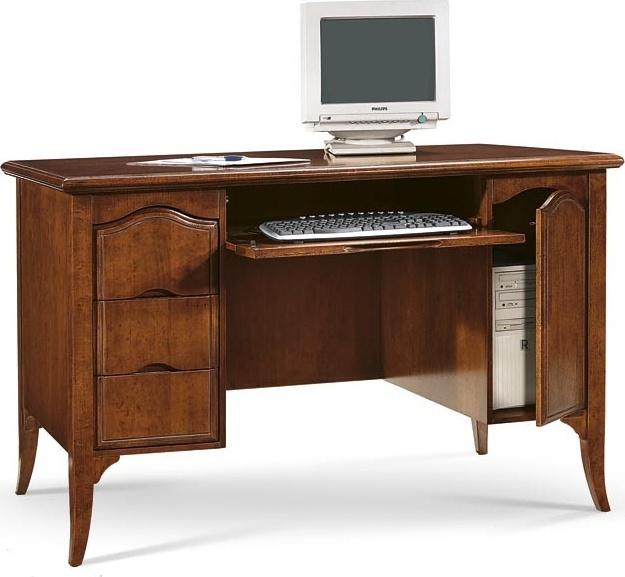 Psací stůl, PC stůl se 3 šuplíky a prostorem s dvířky pro PC
