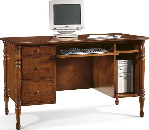Stylový psací stůl, PC stůl se 3 šuplíky