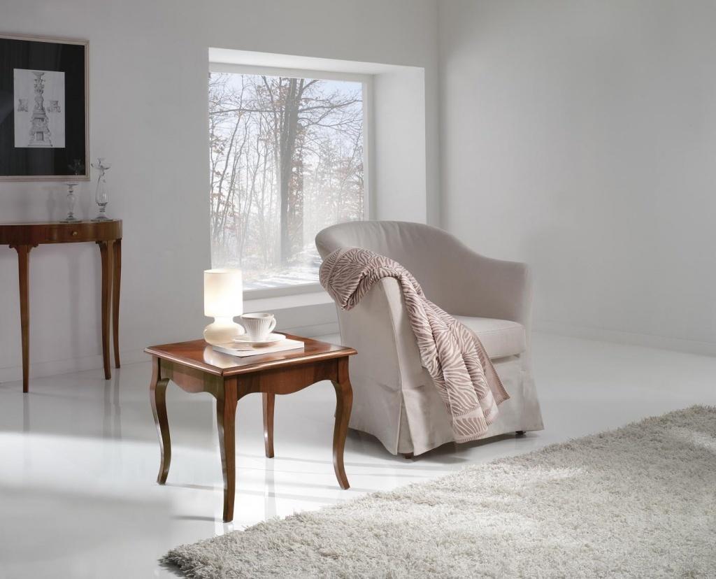 Odkládací stolek intarzovaný 50 x 50 cm