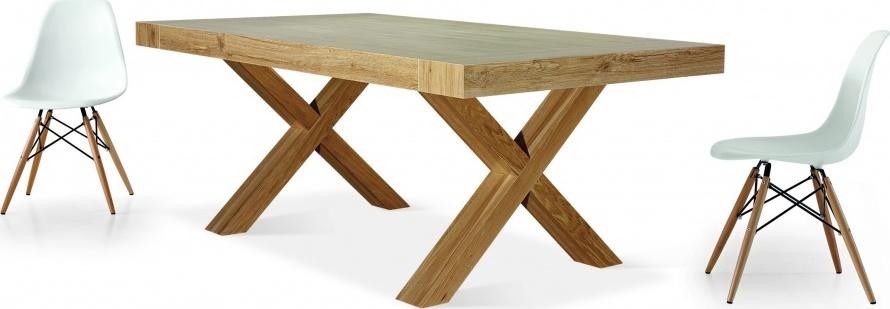Jídelní stůl rozkládací - nohy do kříže