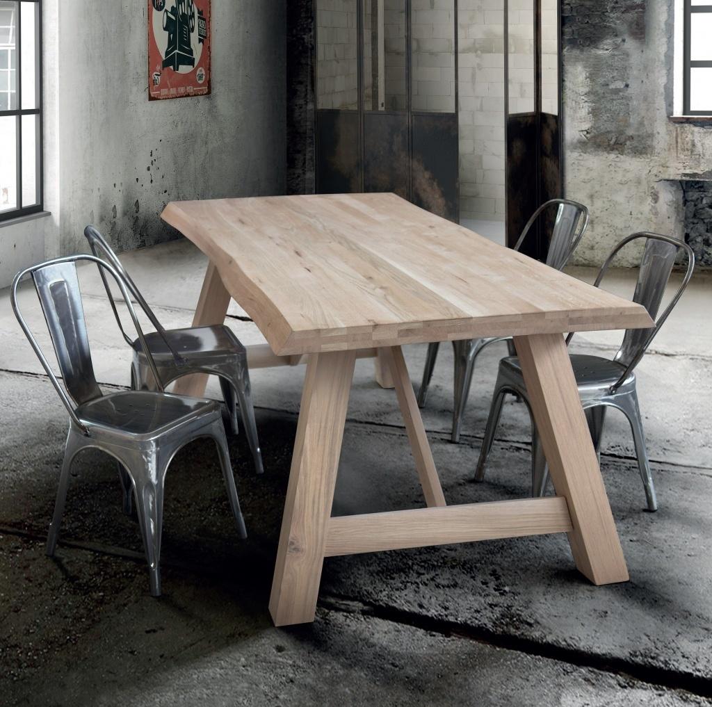 Masivní stůl dřevěné nohy 250x100x6