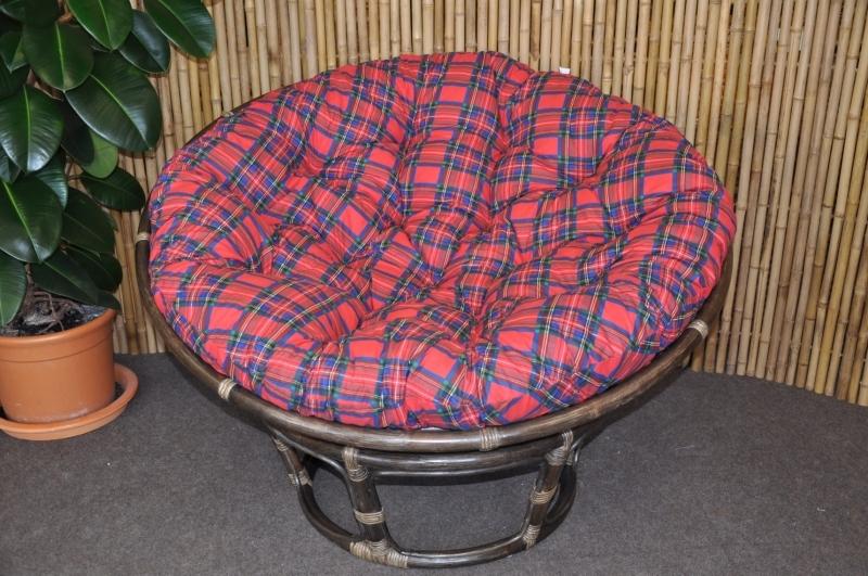 Axin Trading s.r.o. Polstr na křeslo papasan 110 cm červený CZ