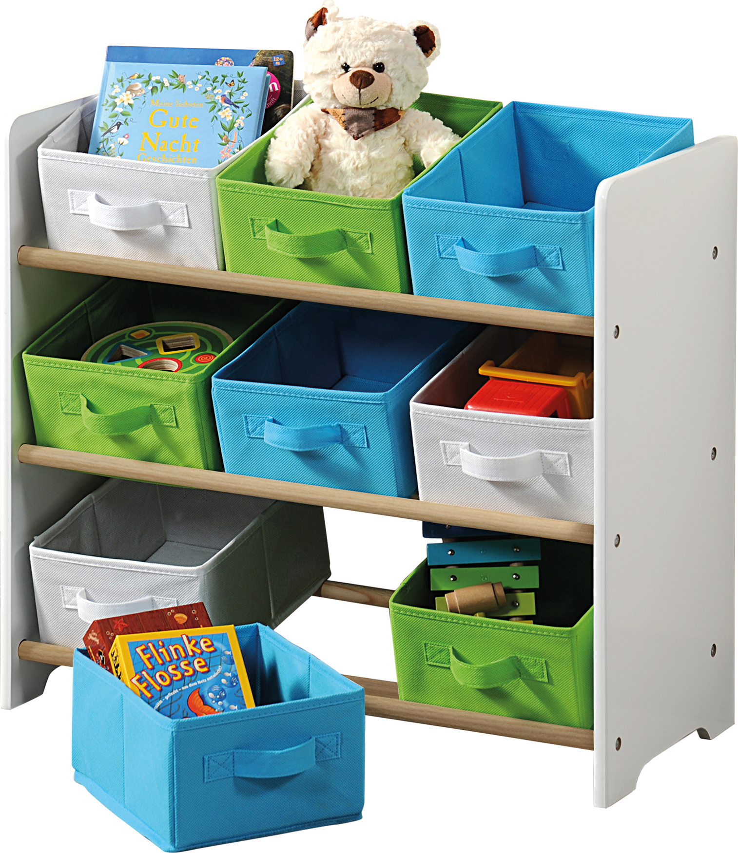 Kesper Organizer na hračky s barevnými boxy