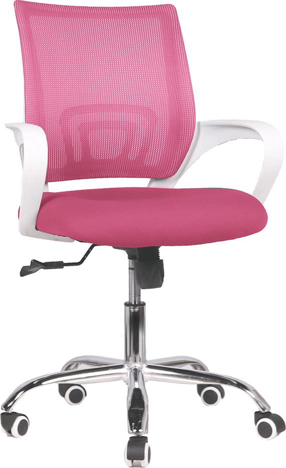Kancelářské křeslo, růžová / bílá, Sanaz TYP 2