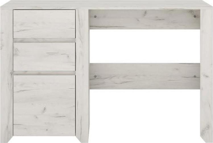 PC stůl typ 80, bílá craft, ANGEL