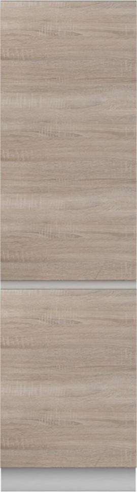 Potravinová skříňka D 60, dub sonoma/bílá, LINE