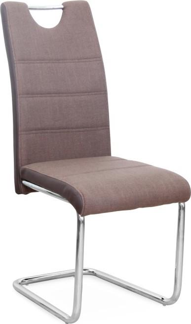 židle do kuchyně z hnědé ekokůže
