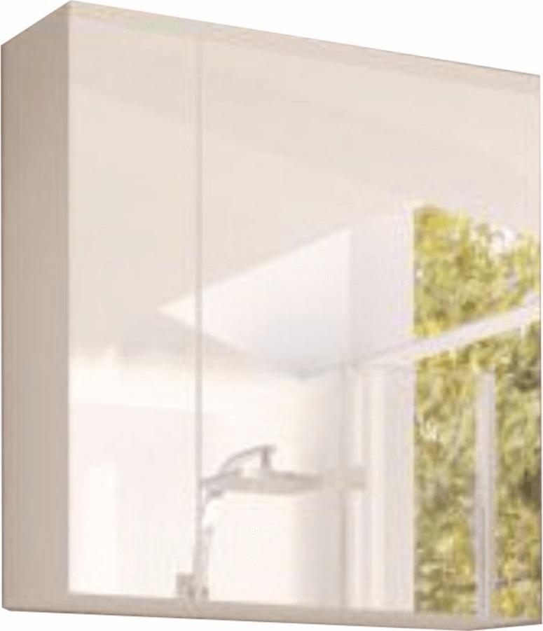 Skříňka se zrcadlem, bílá, MASON WH14