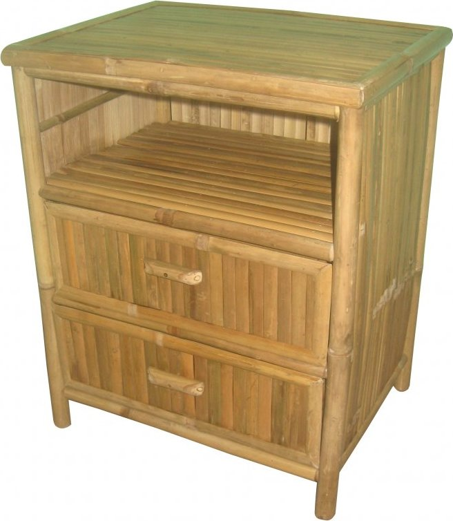 Axin Trading s.r.o. Komoda bambusová 2 zásuvky