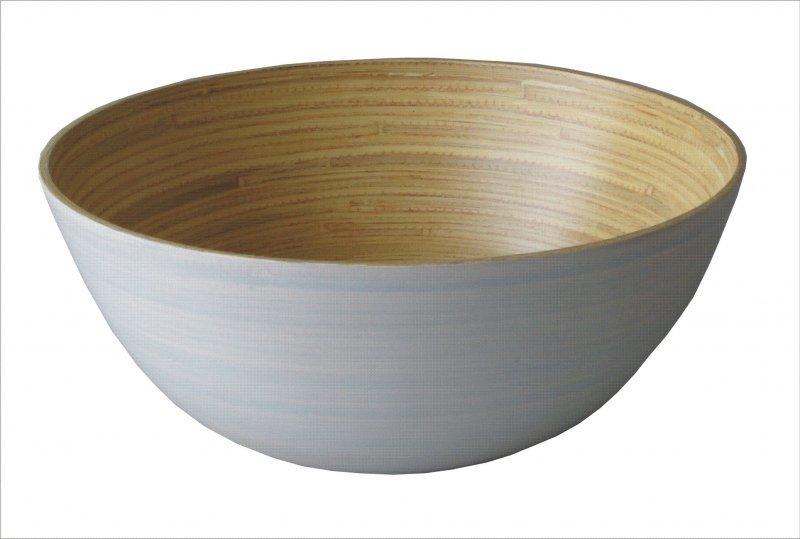 Axin Trading s.r.o. Mísa bambus kulatá šedá 30 cm