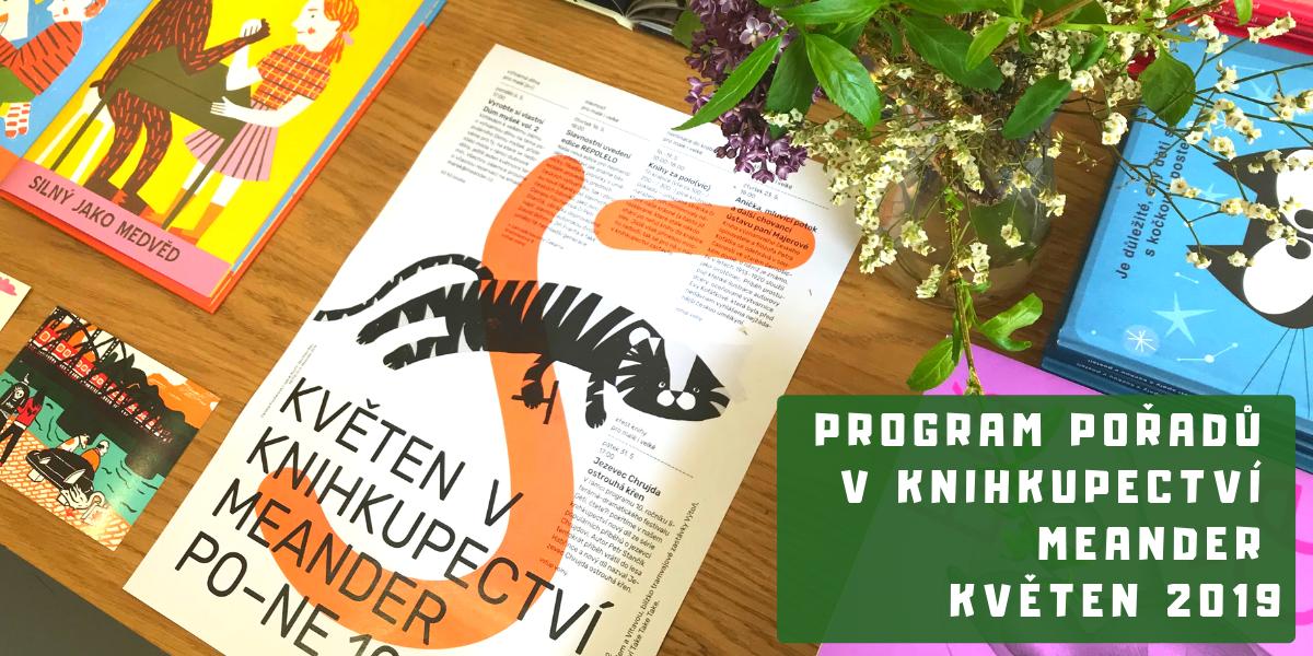 Program v knihkupectví Meander - Květen 2019