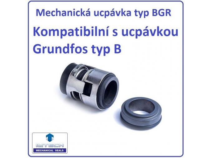 Mechanická ucpávka typ BGR kompatibilní s ucpávkou Grundfos typ B – kompatibilní s BQQE,BUBE,BUUV,BQQV