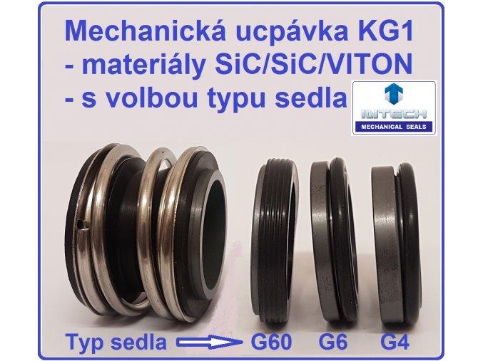 mechanická ucpávka KG1 carbid carbid Viton typ sedla