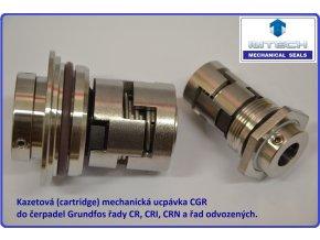 cartridge kazetová mechanická ucpávka pro grundfos