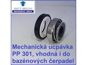 Mechanická ucpávka upchávka PP 301 do bazénových čerpadel