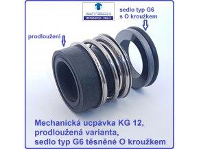 Mechanická ucpávka upchávka prodloužená KG1 MG1 sedlo G6 carbid SC SiC EPDM