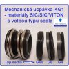 mechanická ucpávka typ KG1 SiC/SiC/VITON s volbou typu sedla - do čerpadel Wilo, EMU, Grundfos, KSB, Sigma