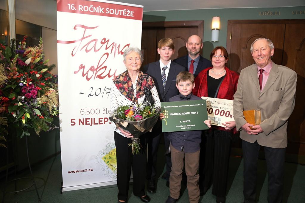 Umístění v soutěži Farma roku 2017