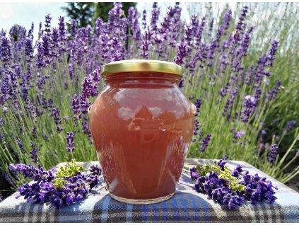 Lesní malina v pastovaném medu  Lesní malina v pastovaném medu