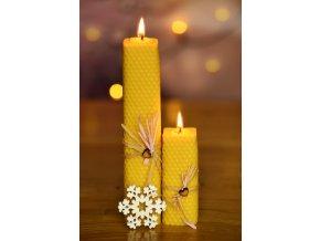 Svíčka ze včelího vosku - hranatá