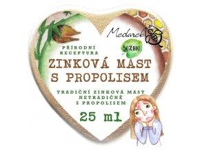 Medarek Zinková mast s propolisem srdíčko ilustrace