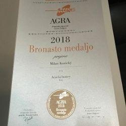 Bronzová medaila za agátový med - AGRA 2018