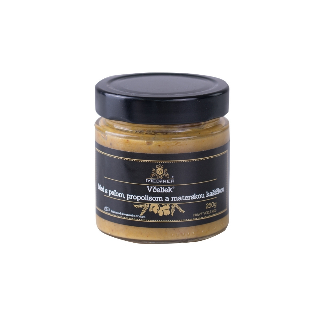 Med, peľ, propolis a materská kašička: kráľovská kombinácia pre vaše zdravie