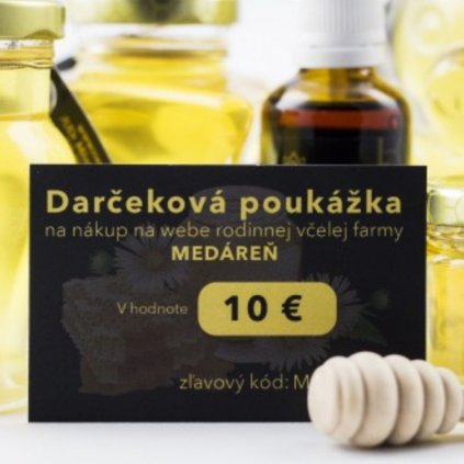 Darčeková poukážka 10 EUR - Medáreň