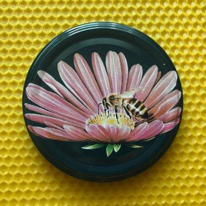 Viečko plechové TWIST ružový kvet - Medáreň