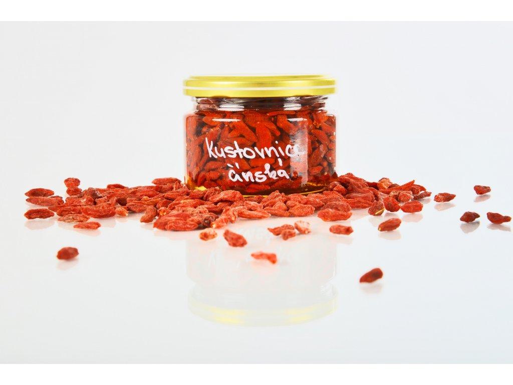 Kustovnice čínská v medu  Mix exotiky a českého medu