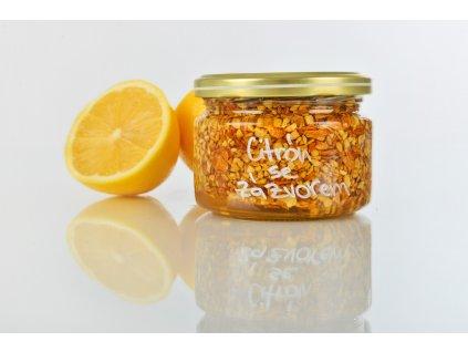 Citron se zázvorem  Medový čaj proti chřipce