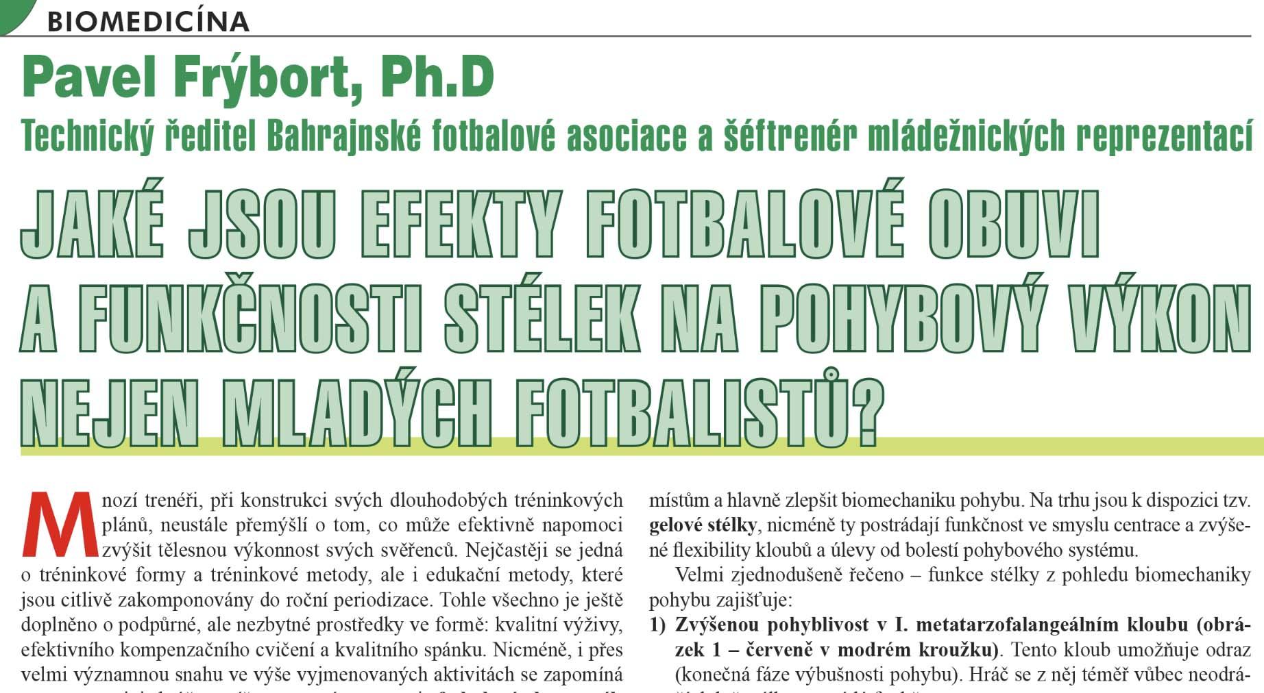 Efekty stélek ve fotbalové obuvi - Fotbal a trénink 2017/2