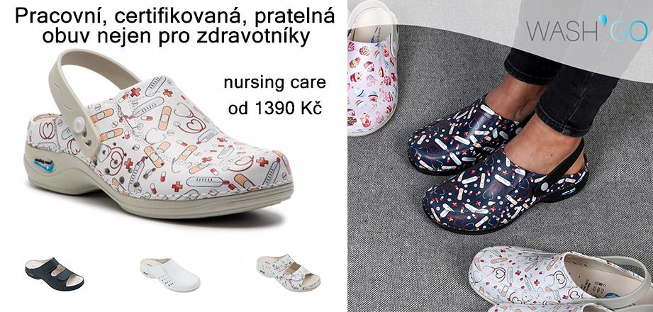 Nursing Care - pracovní, certifikovaná, pratelná obuv