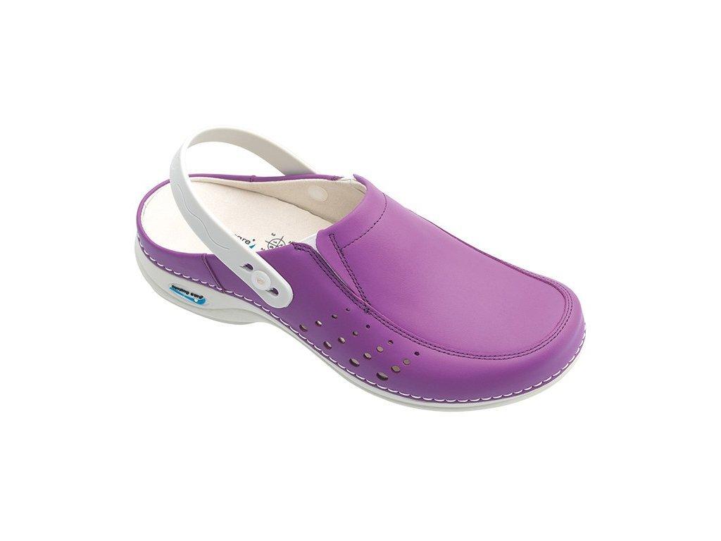 709 2 berlim pracovni kozena pratelna obuv s certifikaci damska s paskem purpurova wg4ap20 nursing care 3