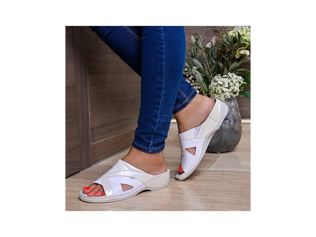 Zdravotní pantofle Batz VIKI - Bílá