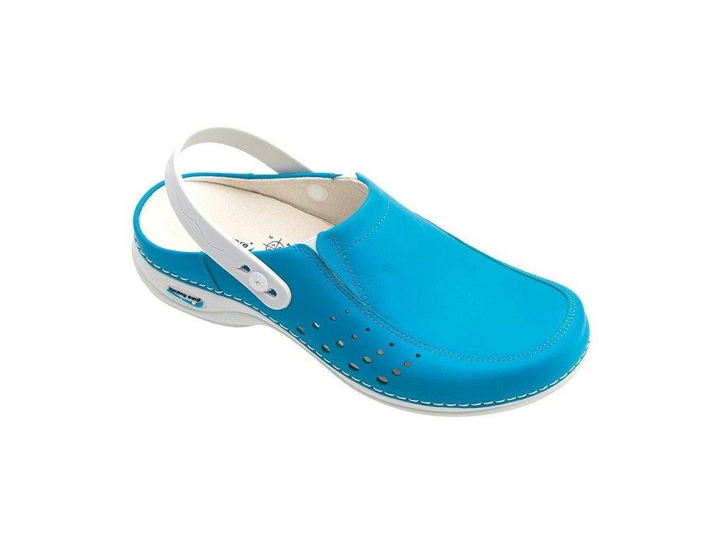703 2 berlim pracovni kozena pratelna obuv s certifikaci damska s paskem modra wg4ap19 nursing care 3