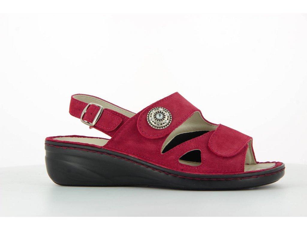 Terapeutická obuv Varomed Isabelle - červená