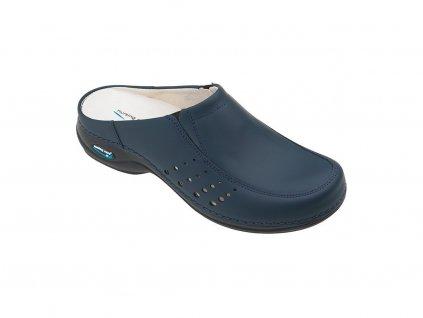 712 3 berlim pracovni kozena pratelna obuv s certifikaci unisex bez pasku tmave modra wg4a03 nursing care 1