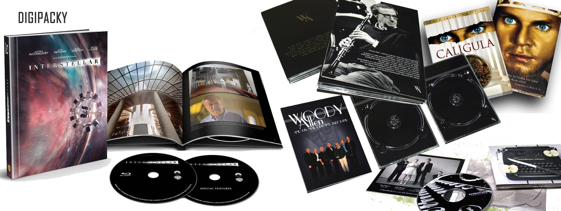 Digipacky a CD/DVD knihy
