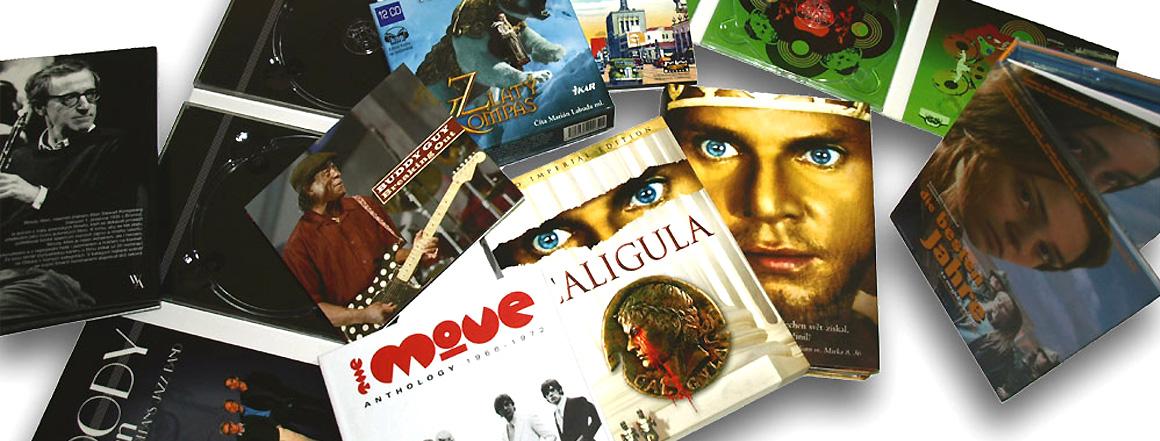 Digipacky, papírové pošetky, obaly na CD/DVD