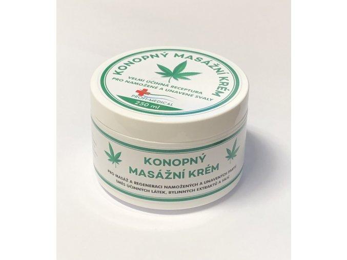 250 ml - Konopný masážní krém pro namožené a unavené svaly  250 ml - Konopný masážní krém pro namožené a unavené svaly