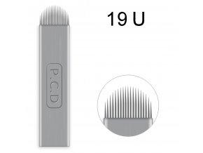 1 ks Linkovací sterilní jehla čepel 19U / - 0,18 mm PRO RUČNÍ TETOVACÍ STROJEK PERMANENTNÍ MAKEUP