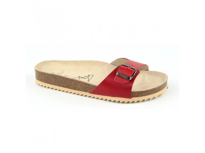 4046 jednopaskove pantofle 2002 verona cervene velikost vel 41