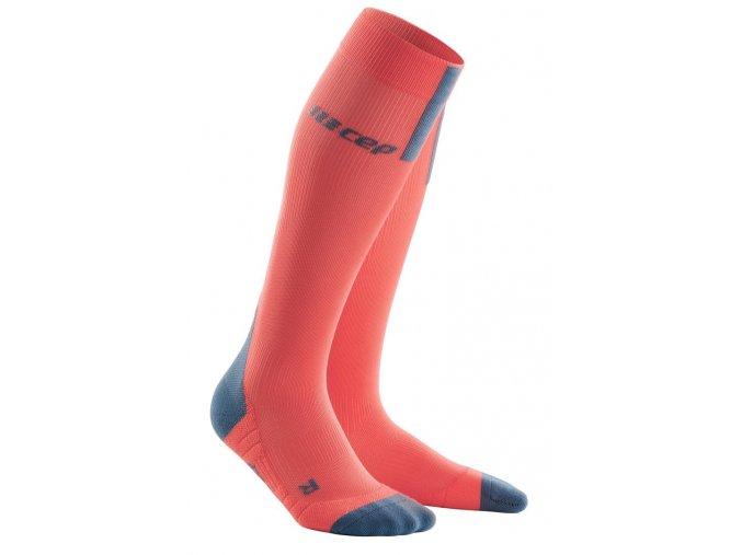 1280x1280 Run Compression Socks 3 0 coral grey WP40BX WP50BX front 2
