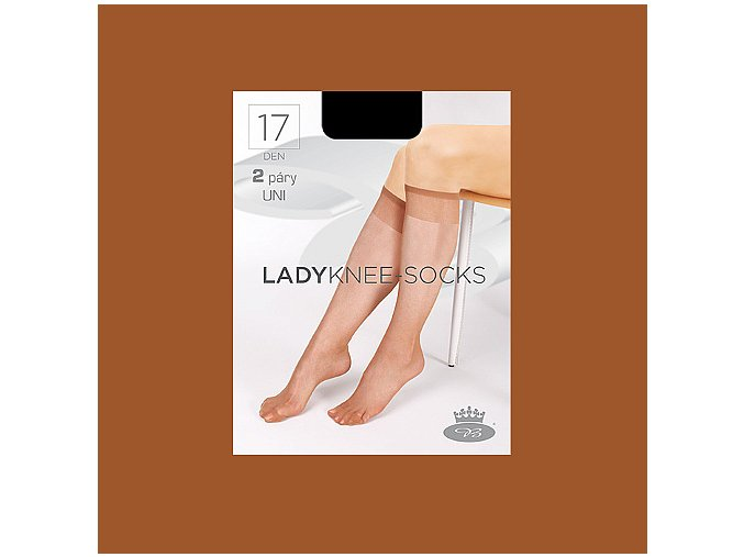 Lady knee socks opal web